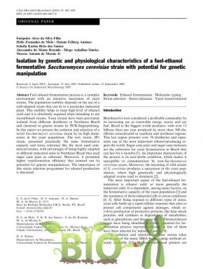 Isolation by genetic and physiological characteristics of a fuel-ethanol fermentative Saccharomyces cerevisiae strain with potential for genetic manipulation