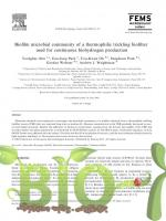 Biofilm microbial community of a thermophilic trickling biofilter used for continuous biohydrogen production