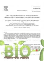Effect of periodic backwash in the submerged membrane adsorption hybrid system (SMAHS) for wastewater treatment