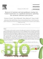 Removal of nutrients and micropollutants treating low loaded wastewaters in a membrane bioreactor operating the automatic alternate-cycles process