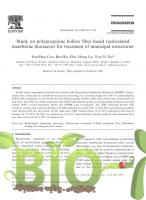 Study on polypropylene hollow fiber based recirculated membrane bioreactor for treatment of municipal wastewater