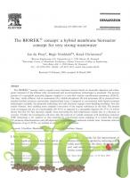 The BIOREK concept: a hybrid membrane bioreactor concept for very strong wastewater