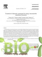 Treatment of domestic wastewater by using a microaerobic membrane bioreactor