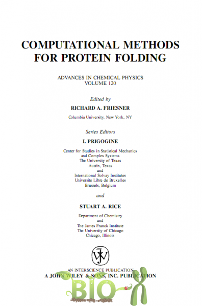 Computational methods for protein folding, Friesner, скачать бесплатно